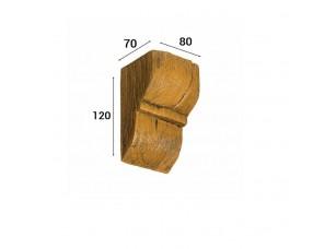Консоль Cosca Deco для балки 90х60мм рустик, дуб светлый
