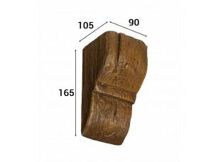 Консоль Cosca Deco для балки 120х120мм рустик, дуб темный