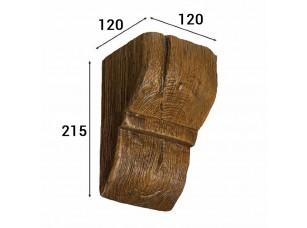 Консоль Cosca Deco для балки 150х120мм рустик, дуб темный