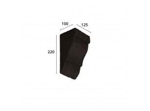 Консоль для архитектурного бруса 135х85мм, темная секвойя