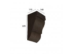 Консоль для архитектурного бруса 150х95мм, темная секвойя
