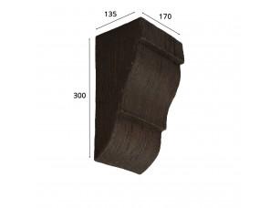 Консоль для архитектурного бруса 180х110мм, темная секвойя