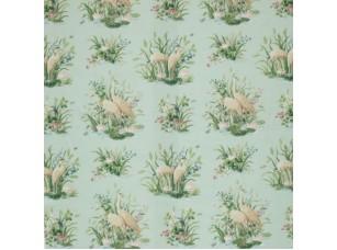 Floral Pavilion/ Waterbirds Aqua ткань