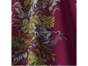 Rainforest / Monkeying Around Cranberry ткань