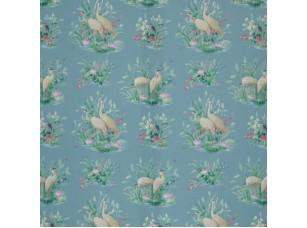 Floral Pavilion/ Waterbirds Cobalt ткань