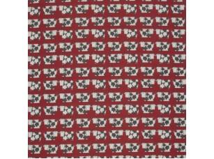 Scandi/ Moo Moo Scarlet ткань
