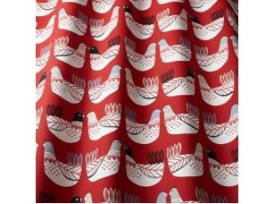 Nordic / Cluck Cluck Scarlet ткань
