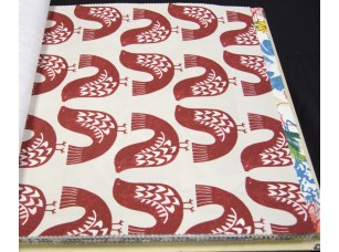 Elegancia Scandi Birds Scarlet