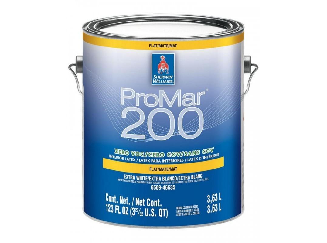Краска ProMar 200 Interior Latex Flat / Sherwin-Williams
