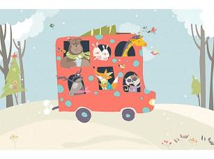 Фотообои «Автобус для зверей»