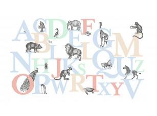 Фотообои «Английские буквы с животными»