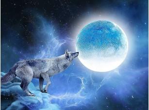 Фотообои «Волк и луна»
