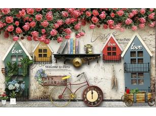 Фотообои «Винтажня композиция из домиков»