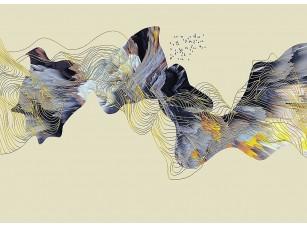 Фотообои «Абстракция из цветных линий»