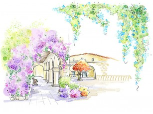 Фотообои «Арочная анфилада в цветах»