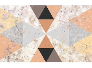 Фотообои «Абстрактный геометрический фон из треугольников разных цветов и размеров»