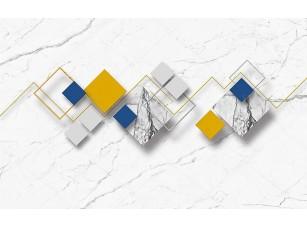 Фотообои «Белый мраморный фон, разноцветные ромбы»