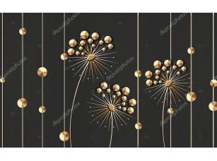 Фотообои «Абстрактные звездообразные цветы»