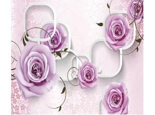 Фотообои «3D фон для интерьера с розами»