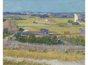 Фотообои «Ван Гог. Пейзаж со сбором урожая и голубой повозкой»