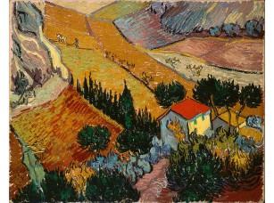 Фотообои «Ван Гог. Пейзаж с домом и пахарь»