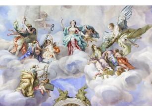 Фотообои «Яркая фреска святых и ангелов в церкви Святого Чарльза»