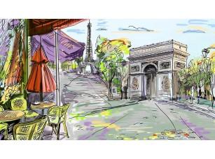 Фотообои «Улочка в центре Парижа»