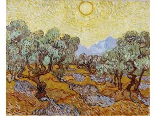 Фотообои «Ван Гог. Оливковые деревья под жёлтым небом и ноябрьским солнцем»