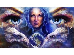 Фотообои «Богиня в пространстве со звездами»