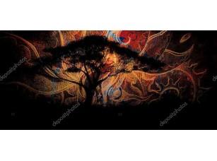 Фотообои «Дерево на  восточном фоне»