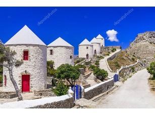 Фотообои «Традиционные греческие ветряные мельницы»