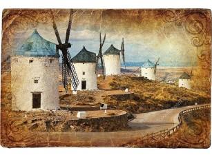 Фотообои «Средневековая Испания - ветряные мельницы»