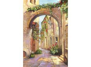 Фотообои «Живописная улочка с цветами»