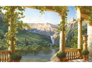 Фотообои «Вид с живописной террасы на водопад»