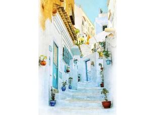 Фотообои «Улочка с белоснежными домами»
