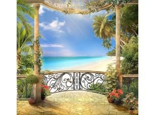 Фотообои «Вид с балкона на красивый пляж»