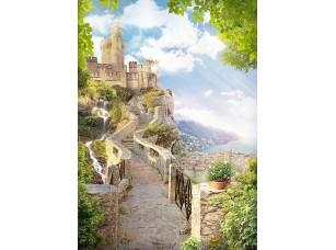 Фотообои «Дорога к прекрасному замку на горе»