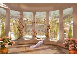 Фотообои «Вид с веранды на прекрасный водопад»
