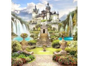 Фотообои «Дорога через сад к огромному замку»