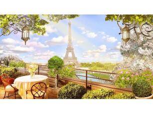 Фотообои «Вид из кафе на Эйфелеву башню»