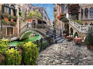 Фотообои «Прекрасная улочка с маленьким мостом»
