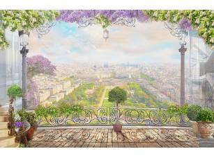 Фотообои «Вид на весь город с большого балкона»
