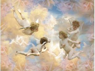 Фотообои «Фреска с ангелами в небе»