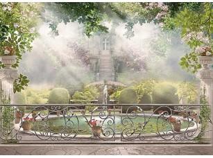 Фотообои «Веранда с видом на живописный сад»