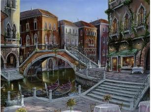 Фотообои «Ночная Венеция с тихими улочками»