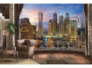Фотообои «Вид с балкона на ночной город»