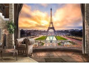 Фотообои «Вид с балкона на Эйфелеву башню»