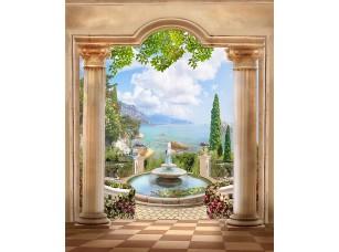 Фотообои «Вид с веранды на чудесный сад»