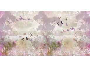 Фотообои «Абстрактный рисунок с птицами»