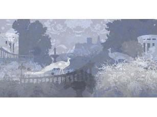 Фотообои «Абстрактный темный рисунок с птицами»